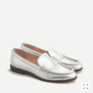 Jcrew leather penny loafers